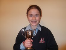 Aoife O'Brien winner of the Connaught secondary schools minor girls cross country