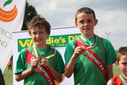 Patrick and Fiachra - Gold in the 600m All-Irelands